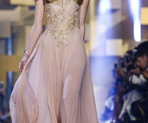 dress, elie saab, and fashion week image