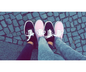 shoes, bestfriends, and vans image