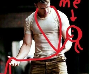 me, funny, and chris evans image