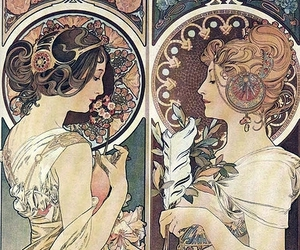 Art Nouveau, art, and mucha image