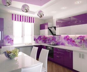 kitchen, purple, and home image
