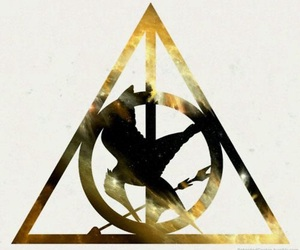 hunger games, harry potter, and Logo image