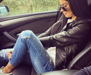 fashion, girl, and leather jacket image