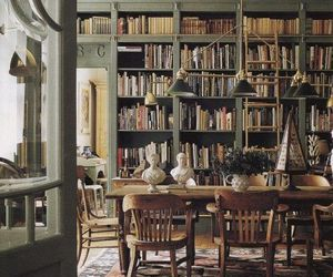 books, table, and chair image