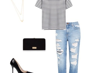 black, jeans, and jewerly image