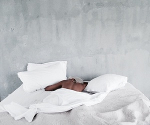 bed, white, and indie image
