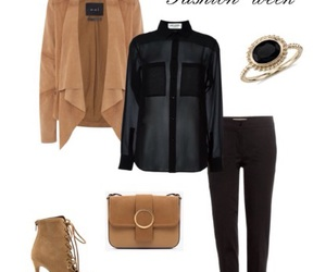 black, blouses, and brown image