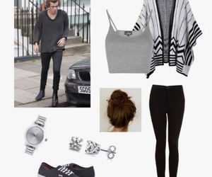 black, grey, and Polyvore image