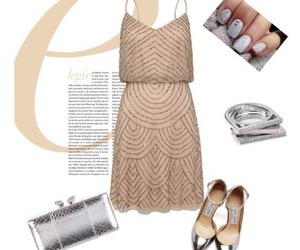 beige, dress, and nails image