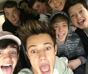 cameron dallas, magcon, and taylor caniff image