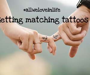 couples, Tattoos, and matching tattoos image