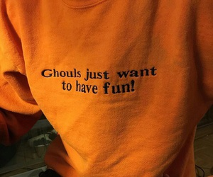 orange, ghoul, and Halloween image