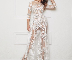 dress, transparent, and white image