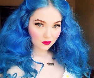 colorful, girl, and dyed hair image