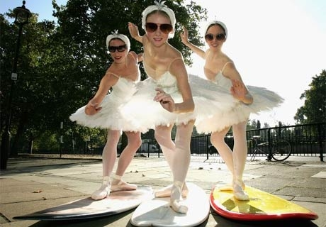 ballerinas, ballet, and sunglasses image