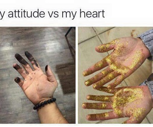 attitude, heart, and gold image