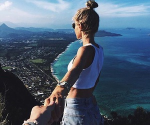 summer, travel, and couple image