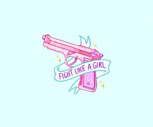 blue, feminist, and pink image