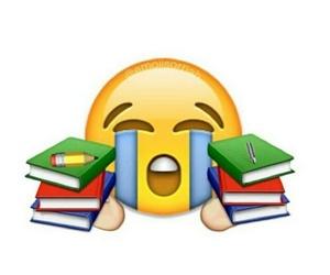 book, emoji, and school image