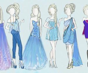 frozen, elsa, and dress image