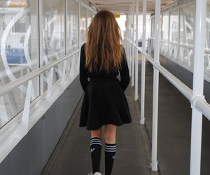 adidas, black, and sad image