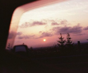 sunset and vintage image