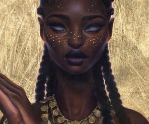 art, braids, and digital art image