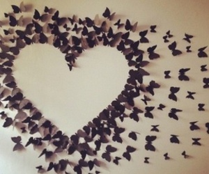 heart, butterfly, and diy image