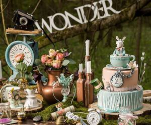 alice, cake, and candle image