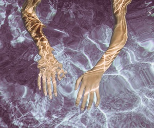 hands, tumblr, and water image