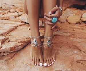 beach, jewelry, and summer image