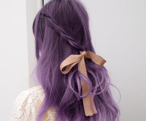 bow, braid, and girl image
