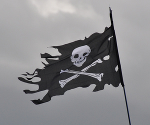 pirate, flag, and aesthetic image
