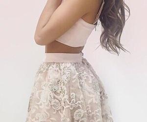 pink, girly, and skirt image
