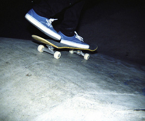 skateboard, shoes, and skate image