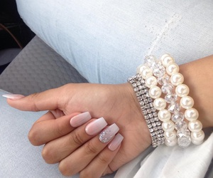 nails, ombrenails, and cute image