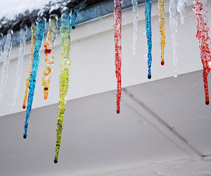 color, ice, and winter image