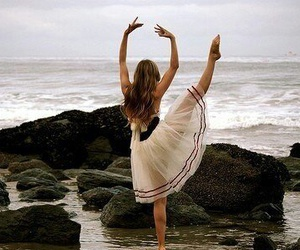 ballet, dance, and beach image