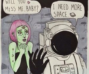space, alien, and grunge image