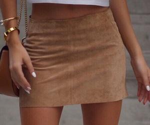 brown, Nude, and skirt image