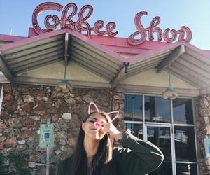 coffee, girl, and pig image