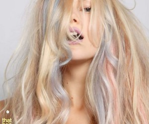 blonde, purple, and blue hair image