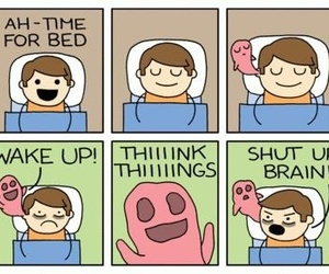 brain, funny, and sleep image