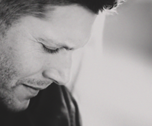black and white, spn, and dean winchester image