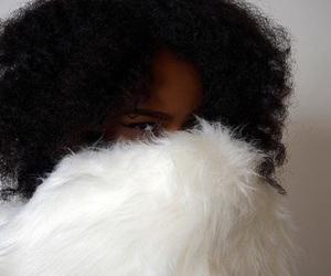 Afro, melanin, and black girl image
