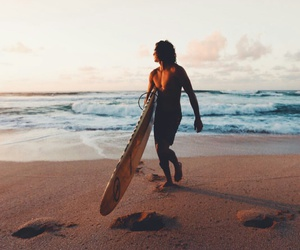 beach, boy, and surf image