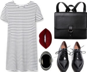 black, dress, and Polyvore image