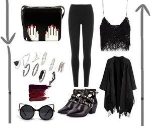 black, girl, and Polyvore image