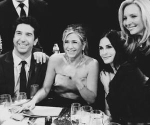 black and white, friendship, and aniston image