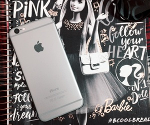 barbie, iphone, and notebook image